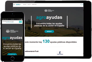 agroayudas en dispositivos