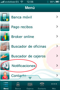pantalla notificaciones