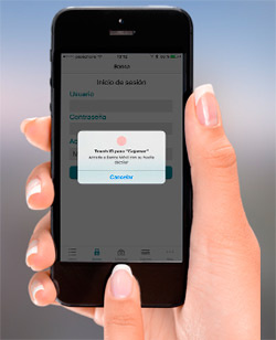 You can now access our iPhone app with your fingerprint